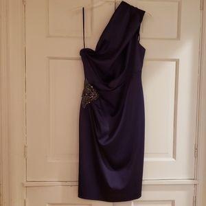 Purple Eliza J Dress One Shoulder Size 6